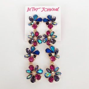 Betsey Johnson Butterfly Blitz Flower Earrings